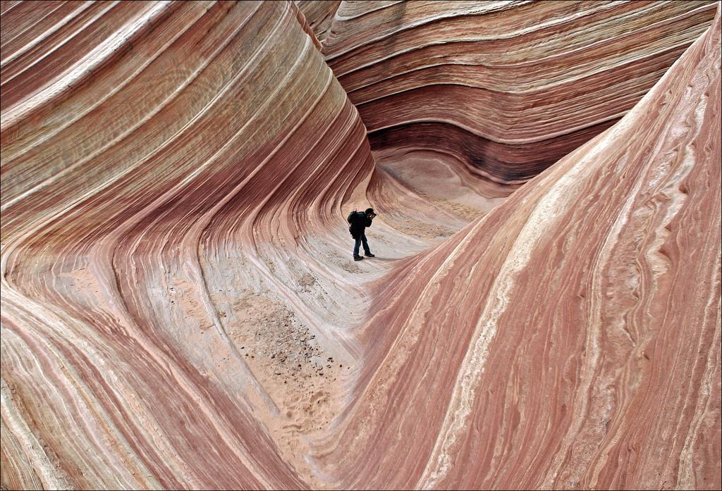La fameuse « Wave » de Coyotte Buttes, Arizona.