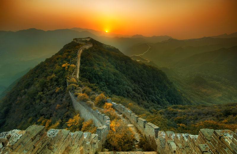 La Nature reprend ses droits sur une partie abandonnée de la Grande Muraille de Chine