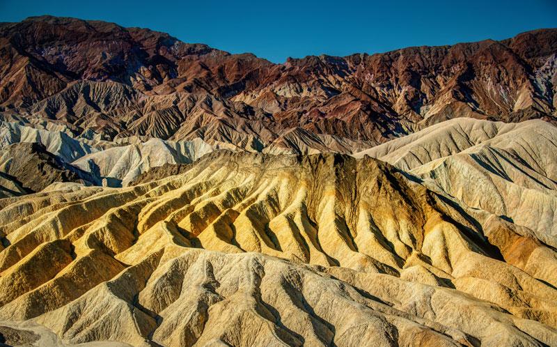 Les couleurs de La Vallée de la Mort.