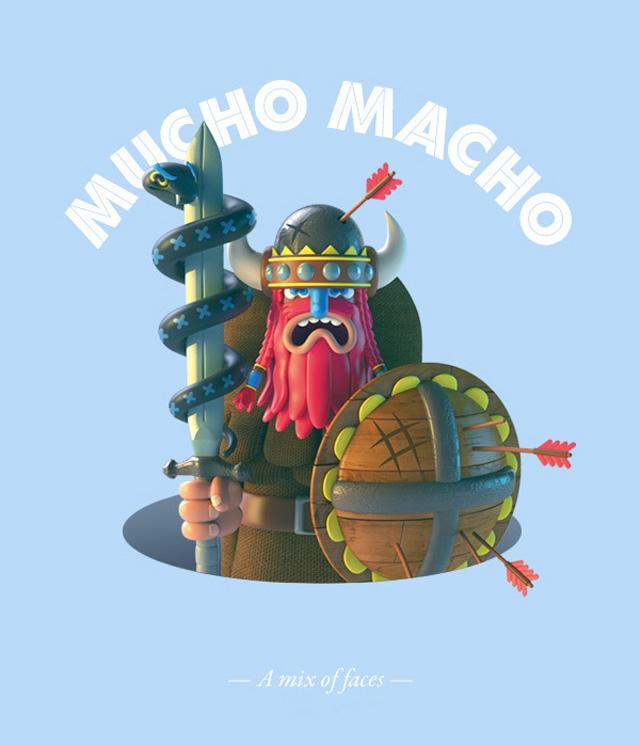 Mucho-Macho-Character-Design-2
