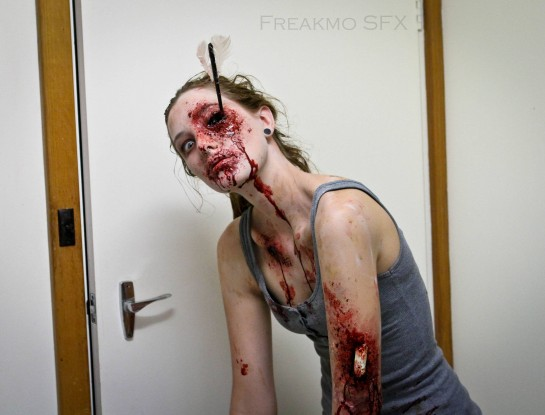 Maquillage zombie pour Halloween 2013