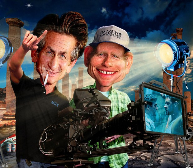 Sean-and-Ron-on-the-set-caricature-helloodesigner