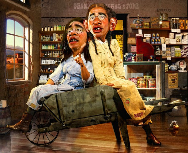 The-Obama-Sisters-caricature-helloodesigner