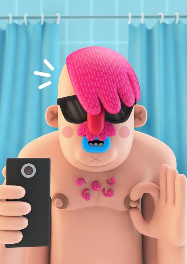 characters-selfies-helloodesigner