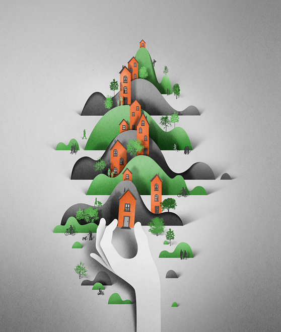New-York-paper craft-paper art-eiko ojala-illustrations-helloodesigner