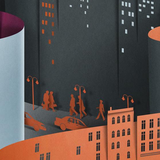 New-York-paper craft-paper art-eiko ojala