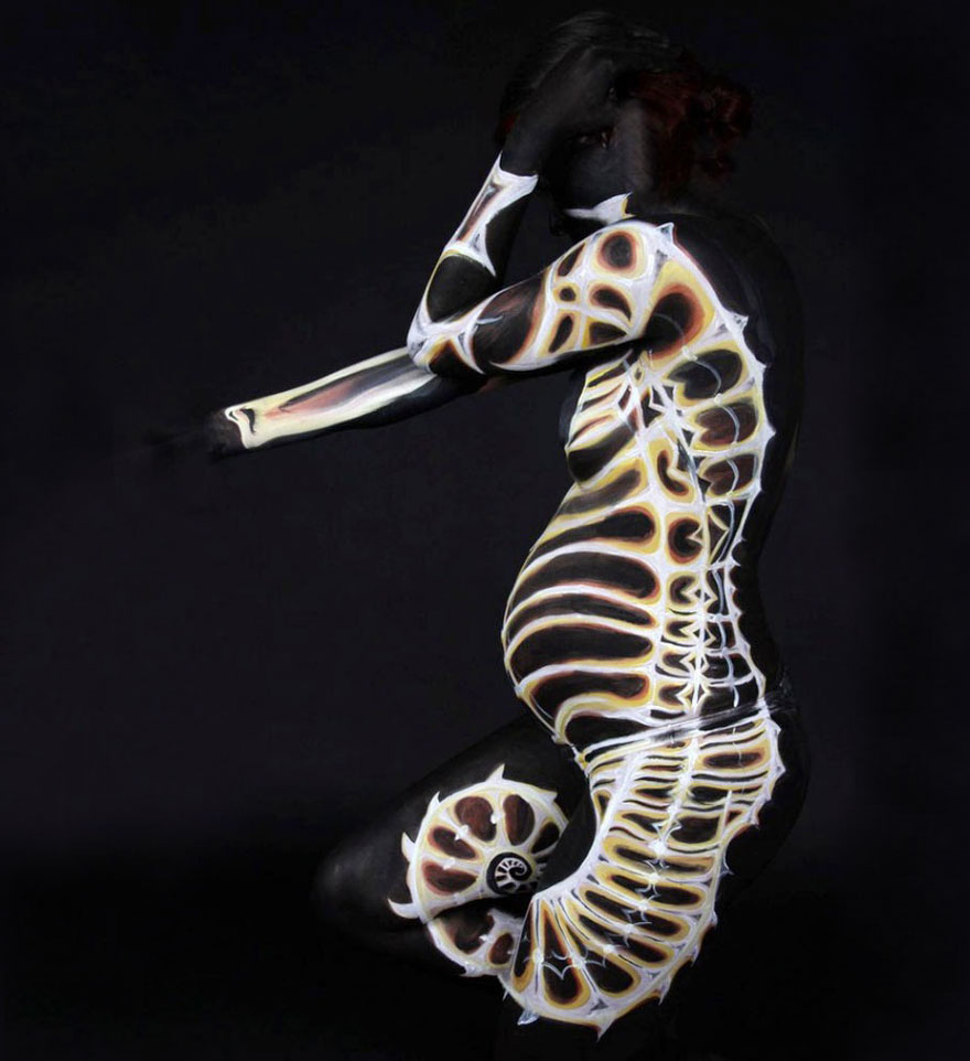Gesine Marwedel-body-painting-art-peinture-photographie