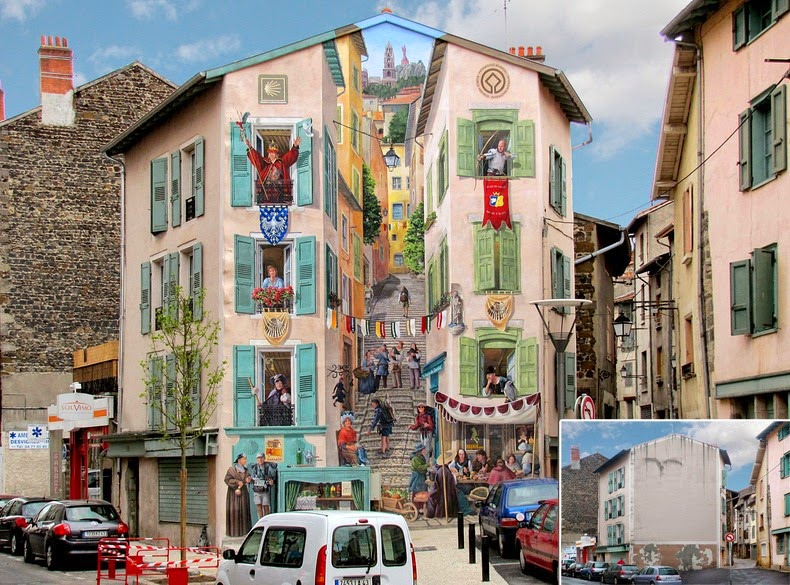 Patrick Commecypeinture-fresque-france-illustration-illusion-optique-art-3D