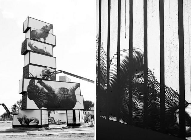 peinture-art-animaux-tableau-géant-North West Walls-roa