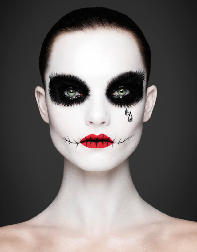 photographie-face-Make up-maquillage-gothic-mort-dead-rankin-halloween-Los Muertos