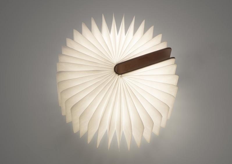 lampe led en forme de livre pliante