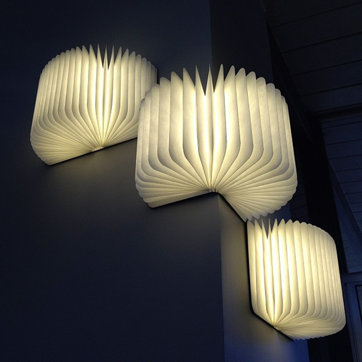 Luminaire origami façon livre