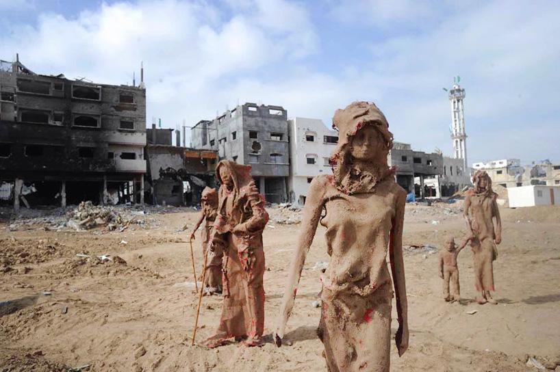 palestinian-artist-gaza-iyad-sabbah-sculpture-art