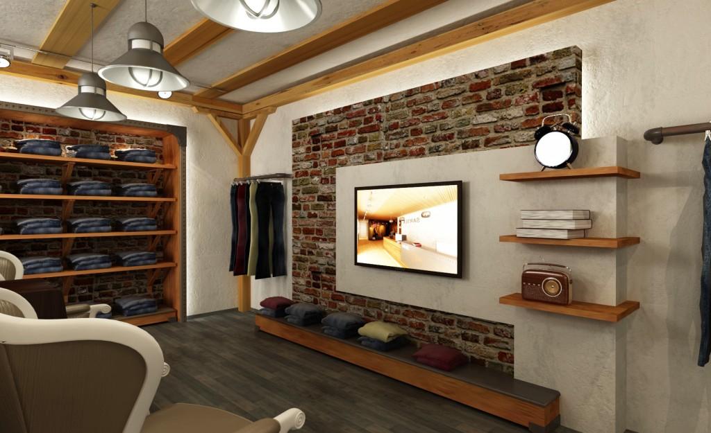 Décoration : boutique Sartex par l'architecte architecture d'intérieur Abdesslem Atti
