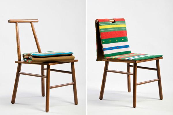 meuble design de table et chaise par Daniel Valero