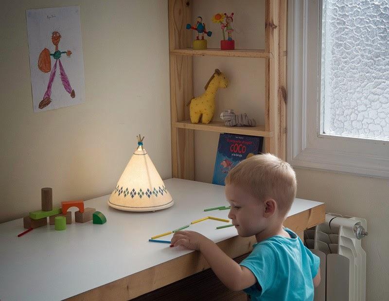lampe en bois pour bureau enfant